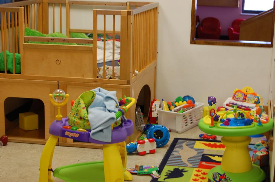 Our infant area is filled with toys and activities to keep little ones engaged and learning in a safe environment.
